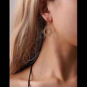 Contemporary, Dangle, Sun Earrings